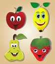 Cartoon fruits Stock Image