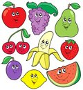 Cartoon fruits collection 1 Royalty Free Stock Image