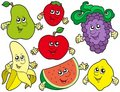 Cartoon fruits collection 2 Stock Photo