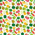 Cartoon Fruits and Vegetables seamless pattern Stock Image
