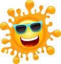 Cartoon Funky Sun Stock Photos