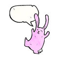 Cartoon funny dancing rabbit Stock Photography