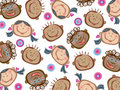 Cartoon funny kids pattern Stock Photos