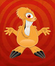 Cartoon funny monster on red background Royalty Free Stock Image