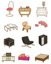 Cartoon Furniture icon Stock Photos