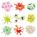 Cartoon Germs, Virus And Microbes Royalty Free Stock Photo