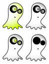 Cartoon ghost vector Stock Image