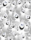 Cartoon Ghosts Background Royalty Free Stock Photo