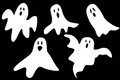 Cartoon ghosts Royalty Free Stock Photo