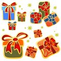 Cartoon gift boxes Royalty Free Stock Image