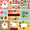 Cartoon gift card Royalty Free Stock Images
