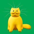 Cartoon ginger cat. 3D illustration.