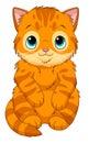 Cartoon ginger kitten