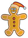 Cartoon Gingerbread Man Stock Images