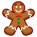 Cartoon Gingerbread Man Isolated On White Background Royalty Free Stock Photo