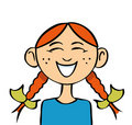 Cartoon girl laughing