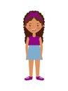 Cartoon girl smiling