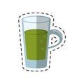Cartoon glass cup juicy refreshment
