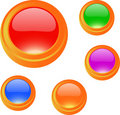 Cartoon glossy blank button set Royalty Free Stock Photo