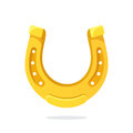 Cartoon gold horseshoe for good luck