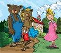 Cartoon of Goldilockes Royalty Free Stock Photography
