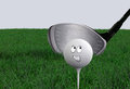 Cartoon golf ball Royalty Free Stock Photo