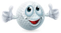 Cartoon golf ball character an illustration of a doing a thumbs up Royalty Free Stock Image