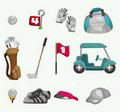 Cartoon golf icon Stock Images