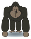 Cartoon Gorilla Royalty Free Stock Photo