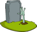 Cartoon grave Royalty Free Stock Images