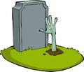 Cartoon grave