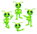 Cartoon Green Alien Set