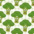 Cartoon Green Broccoli Seamless Pattern Royalty Free Stock Photo