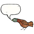 Cartoon grouse with speech bubble Royalty Free Stock Photo