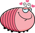 Cartoon grub in love a illustration of a with an expression Stock Photo