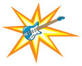 Cartoon Guitar Blast Royalty Free Stock Photo