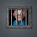 Cartoon guy in prison Royalty Free Stock Images