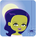 Girl Monster Halloween Costume Royalty Free Stock Photo
