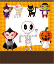 Cartoon Halloween card Stock Photo
