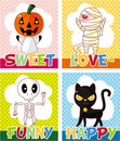 Cartoon Halloween card Royalty Free Stock Photos