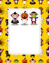 Cartoon Halloween card Stock Photography
