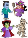 Cartoon Halloween characters 1 Royalty Free Stock Photos