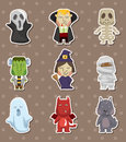 Cartoon Halloween monster  stickers Stock Photos