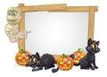 Cartoon Halloween Mummy Sign Royalty Free Stock Photo