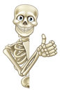 Cartoon Halloween Skeleton Thumbs Up Royalty Free Stock Photo