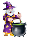 Cartoon Halloween Wizard Royalty Free Stock Photo