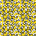Cartoon Hands seamless pattern Stock Photography