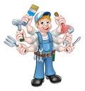 Cartoon Handyman Royalty Free Stock Photo
