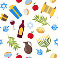 Cartoon Hanukkah Background Pattern. Vector