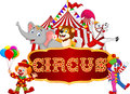 Cartoon Happy Animal Circus Wi...